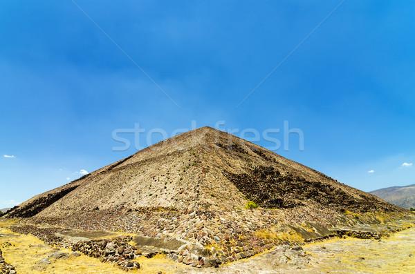 пирамида солнце древних город Мехико здании Сток-фото © jkraft5