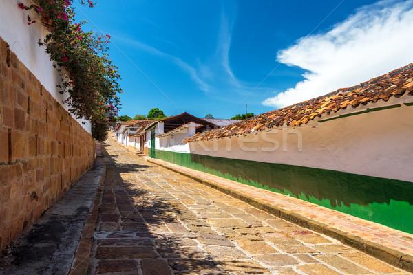 Street in Barichara Stock photo © jkraft5