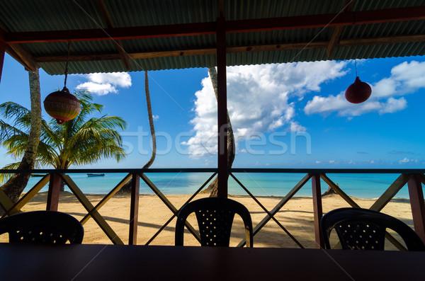 Plaj restoran görmek içinde manzara Stok fotoğraf © jkraft5