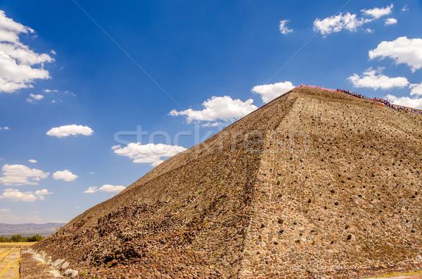 Templom nap kilátás Mexikóváros épület hold Stock fotó © jkraft5