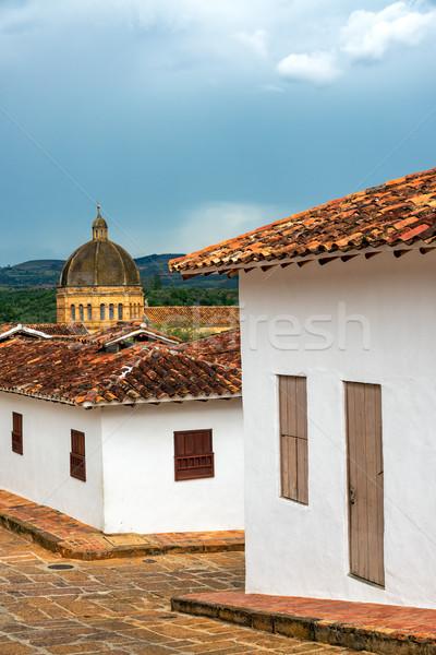 Gyarmati építészet katedrális kupola út épület Stock fotó © jkraft5