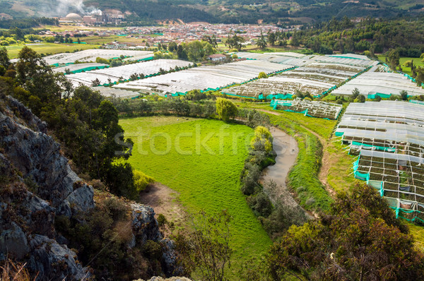Town River and Greenhouse Stock photo © jkraft5