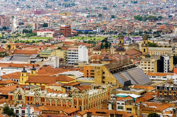 LA történelmi környék Bogotá katedrális egyéb Stock fotó © jkraft5