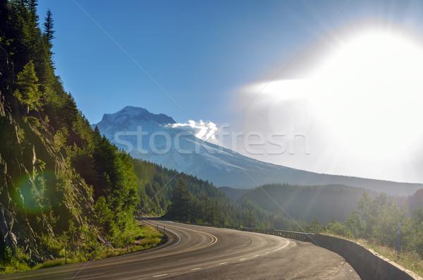 Mt. Hood and Bright Light Stock photo © jkraft5