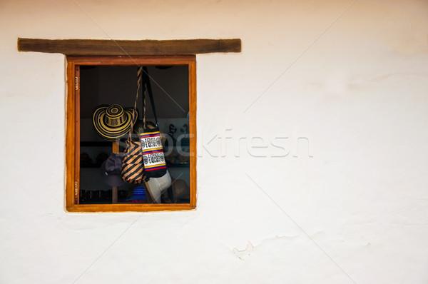 Winkel hemel muur straat venster Blauw Stockfoto © jkraft5