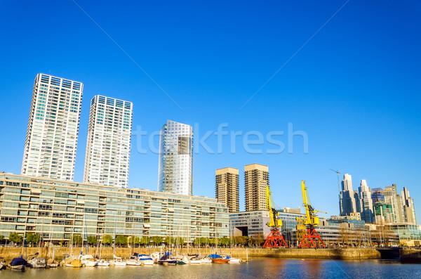 Buenos Aires vízpart környék égbolt utazás épületek Stock fotó © jkraft5