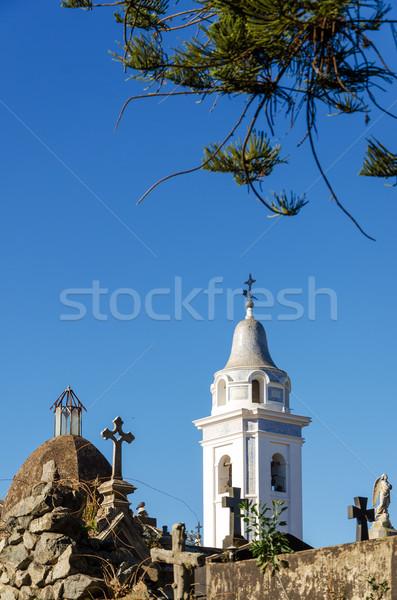 Cimetière croix Buenos Aires pierre statue histoire Photo stock © jkraft5