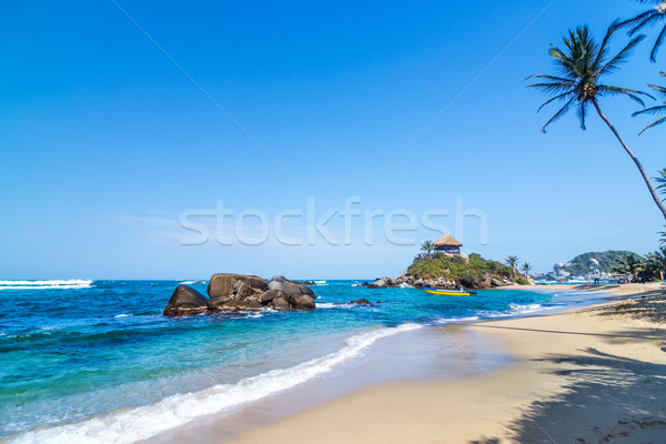 Foto stock: Parque · praia · idílico · tropical · caribbean