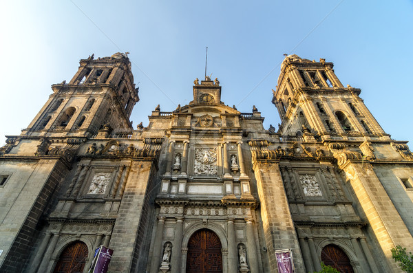 Ciudad de México catedral fachada vista iglesia viaje Foto stock © jkraft5