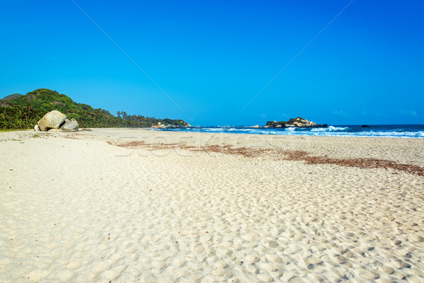 Wide White Beach Stock photo © jkraft5