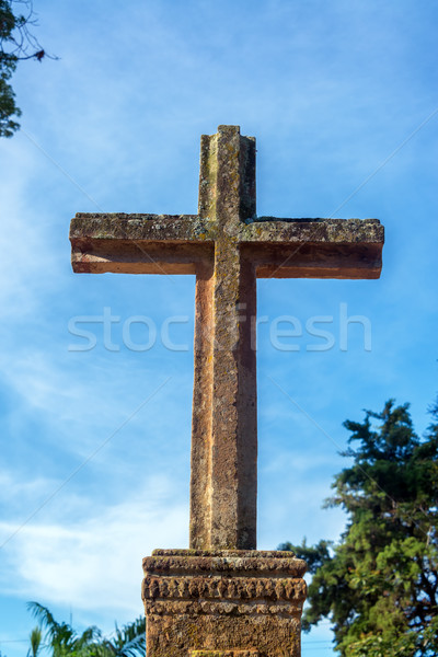 Stone Cross in Barichara Stock photo © jkraft5