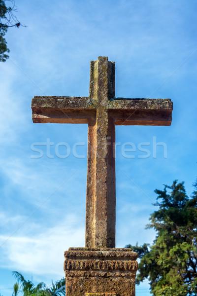 石 クロス 外 サンタクロース 教会 コロニアル ストックフォト © jkraft5
