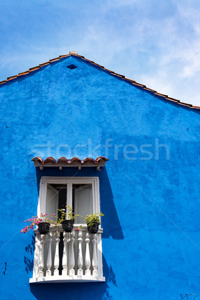 Blue Colonial Architecture Stock photo © jkraft5