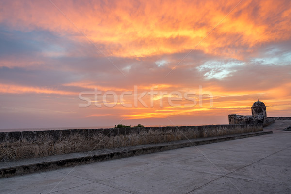 Sunset over Cartagena Stock photo © jkraft5