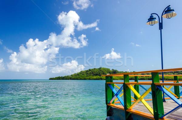 Colorful Bridge and Sea View Stock photo © jkraft5
