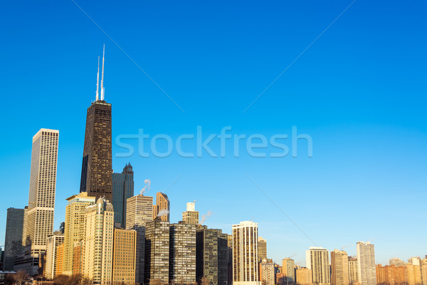 Сток-фото: Чикаго · Skyline · мнение · Небоскребы · красивой · глубокий