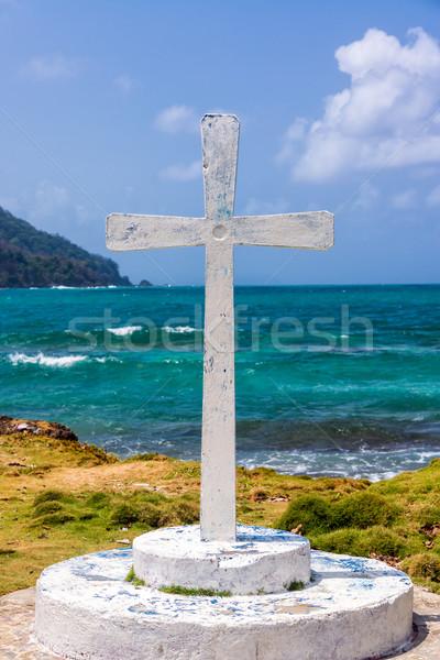 Biały krzyż morza widoku Karaibów la Zdjęcia stock © jkraft5