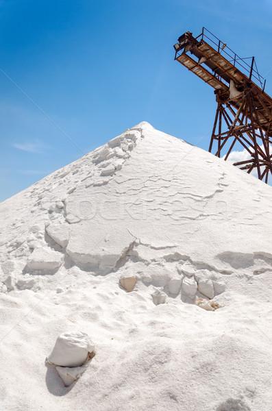 塩 山 生産 施設 空 業界 ストックフォト © jkraft5