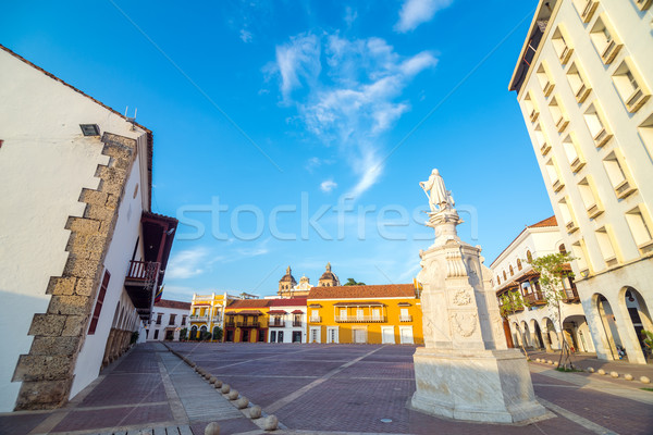 Historic Plaza in Cartagena, Colombia Stock photo © jkraft5