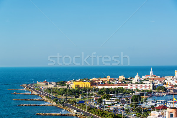Historic Cartagena and Sea Stock photo © jkraft5