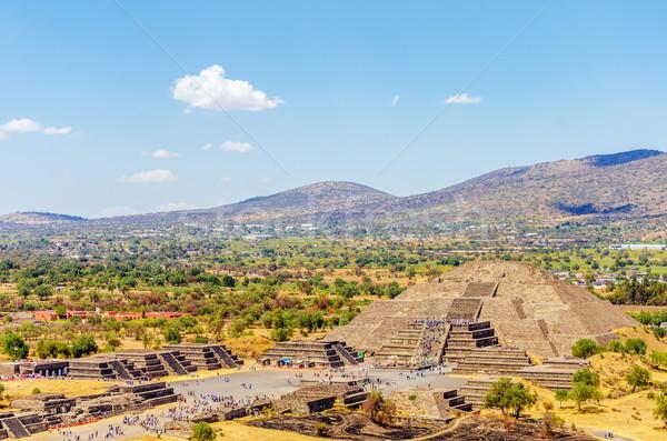 Foto d'archivio: Tempio · luna · view · antica · rovine · Città · del · Messico