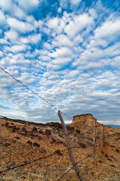 Old Fence in a Desert Stock photo © jkraft5