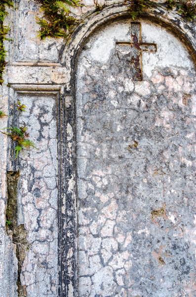 Krzyż starych grób cmentarz Buenos Aires Zdjęcia stock © jkraft5