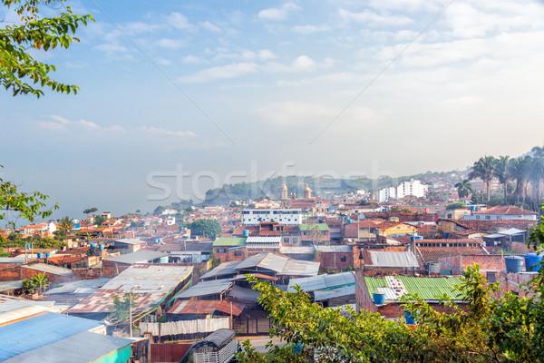мнение Колумбия города небе здании пейзаж Сток-фото © jkraft5
