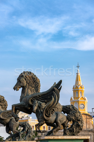 Pegasus and Clock Tower Gate Stock photo © jkraft5
