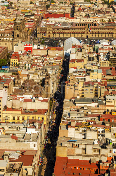 Mexikóváros katedrális légifelvétel fő- épület város Stock fotó © jkraft5