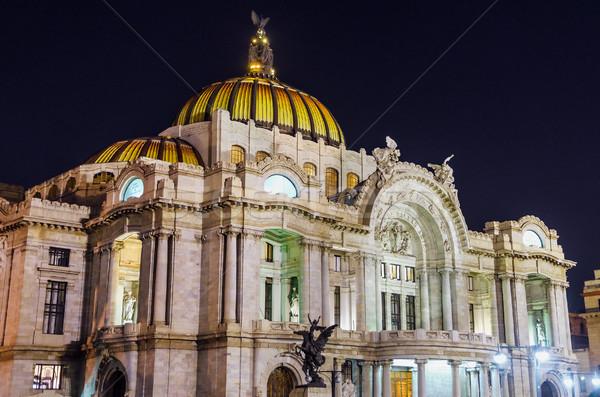ストックフォト: 1泊 · 宮殿 · 芸術 · メキシコシティ · 空 · 市