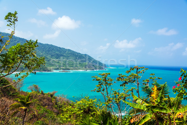 Panama part kilátás türkiz Karib víz Stock fotó © jkraft5