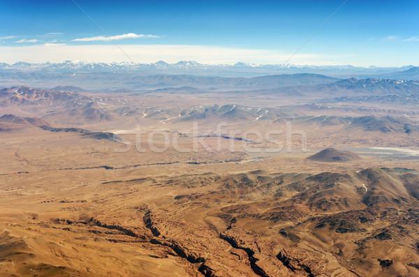 Pustyni góry widok z lotu ptaka wyschnięcia ameryka południowa tekstury Zdjęcia stock © jkraft5
