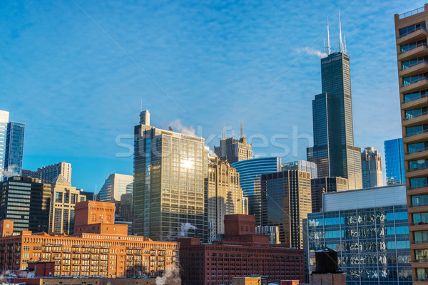 Chicago cityscape jour vue centre-ville Photo stock © jkraft5