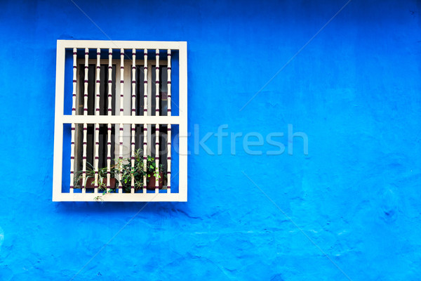 Blue Colonial Wall Stock photo © jkraft5