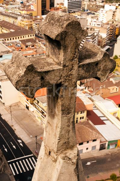 Basilica Cross and City View Stock photo © jkraft5