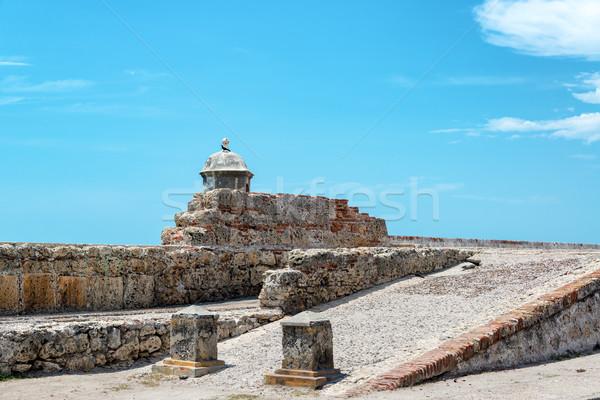 Cartagena Wall and Sky Stock photo © jkraft5