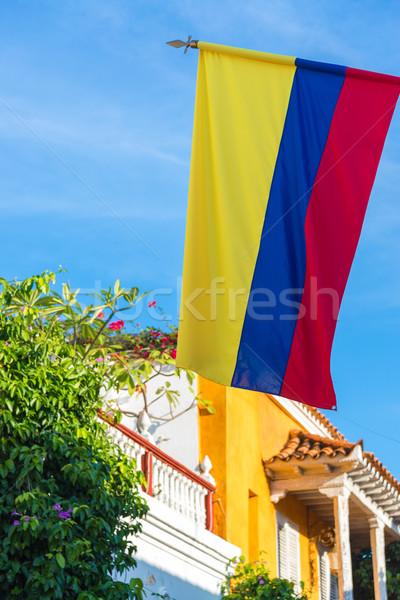 Colombian Flag Stock photo © jkraft5