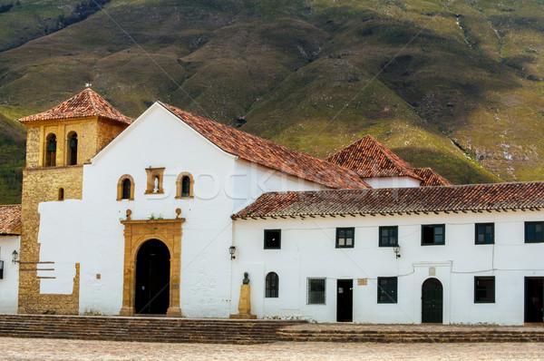 Kościoła willi główny biały historii piękna Zdjęcia stock © jkraft5