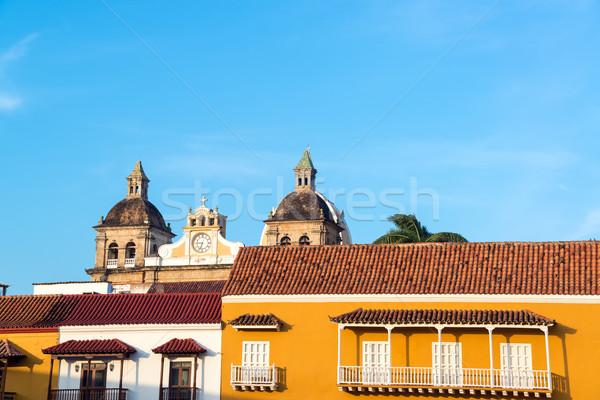 Sömürge kilise görmek binalar Stok fotoğraf © jkraft5