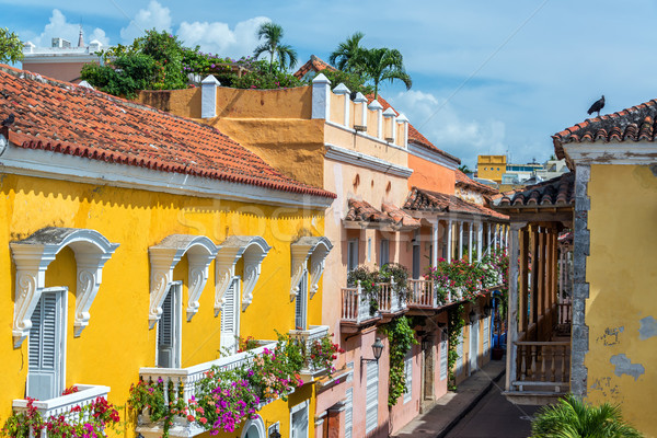 Colonial Balconies Stock photo © jkraft5