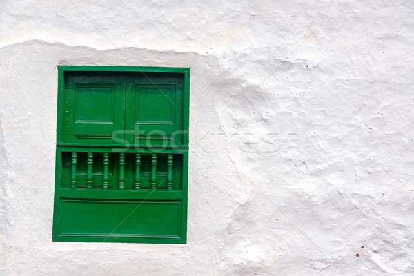 Green Window and White Wall Stock photo © jkraft5