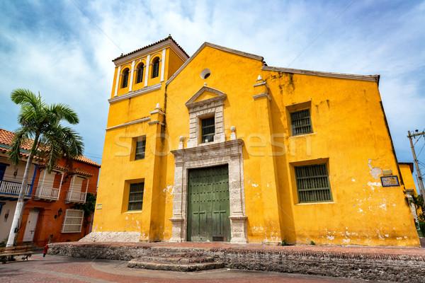 Church in Trinidad Plaza Stock photo © jkraft5