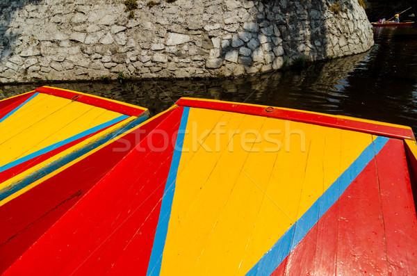 Barcos brillante colores canal Ciudad de México ciudad Foto stock © jkraft5
