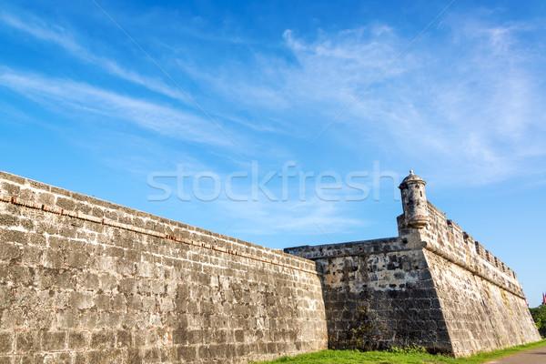 Duvar Kolombiya bölüm eski Stok fotoğraf © jkraft5