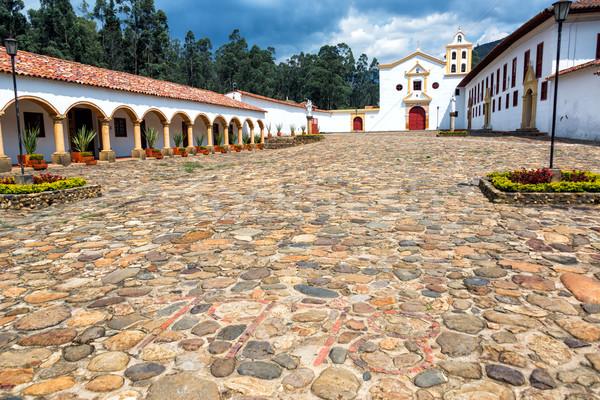 La klooster stad gebouw reizen geschiedenis Stockfoto © jkraft5