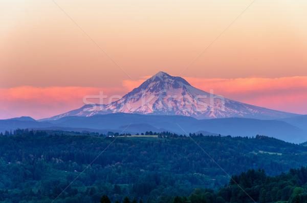 Mount Hood Sunset Closeup Stock photo © jkraft5