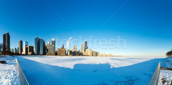Chicago panorama süper geniş görmek gökdelenler Stok fotoğraf © jkraft5