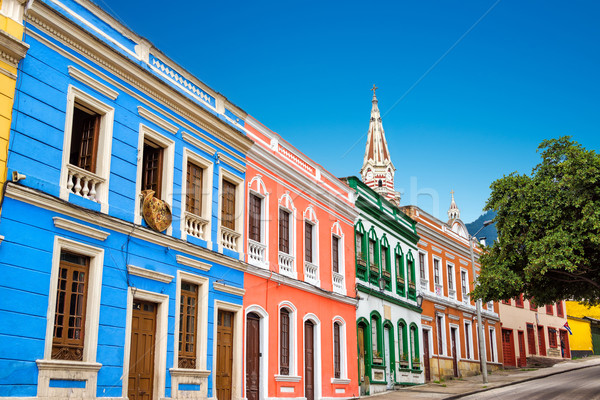 Colorido edificio barrio histórico centro Foto stock © jkraft5