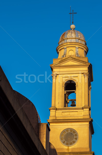 Beautiful Yellow Church Steeple Stock photo © jkraft5